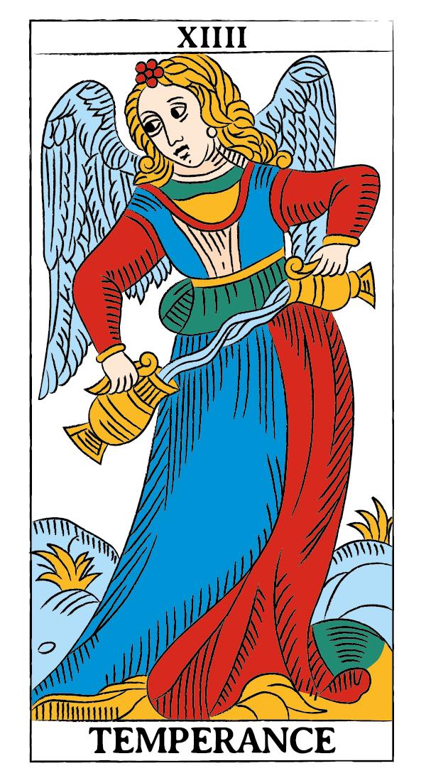 tarocchi di marsiglia francesco guarino temperanza