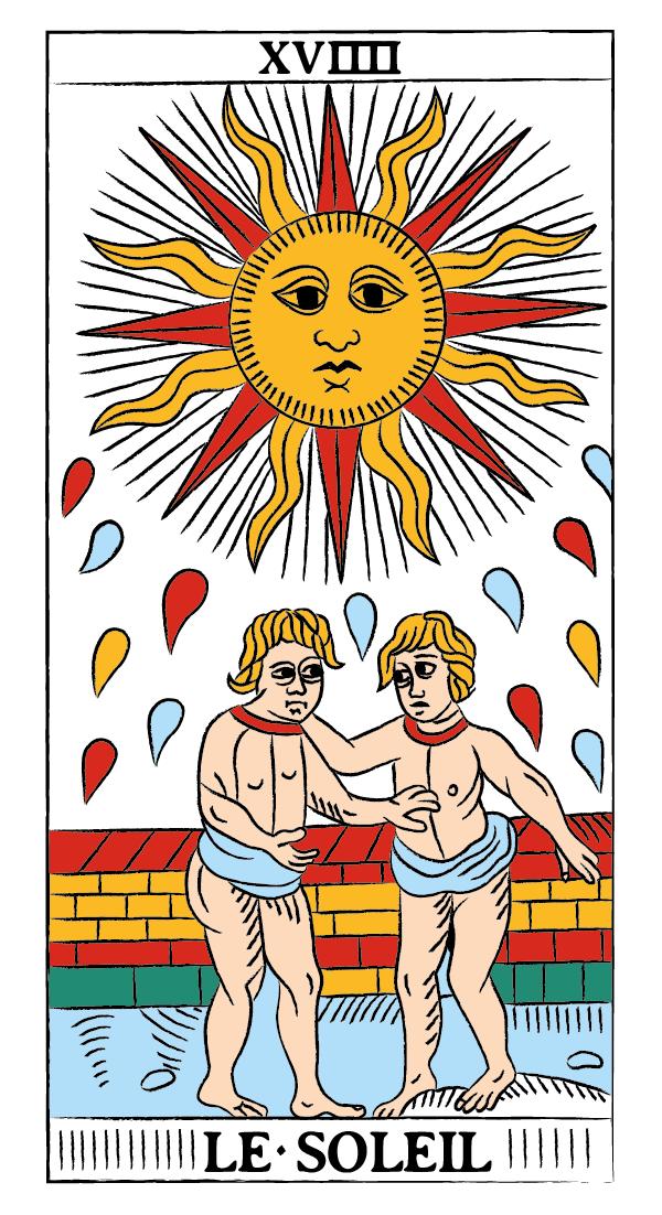 tarocchi di marsiglia francesco guarino sole