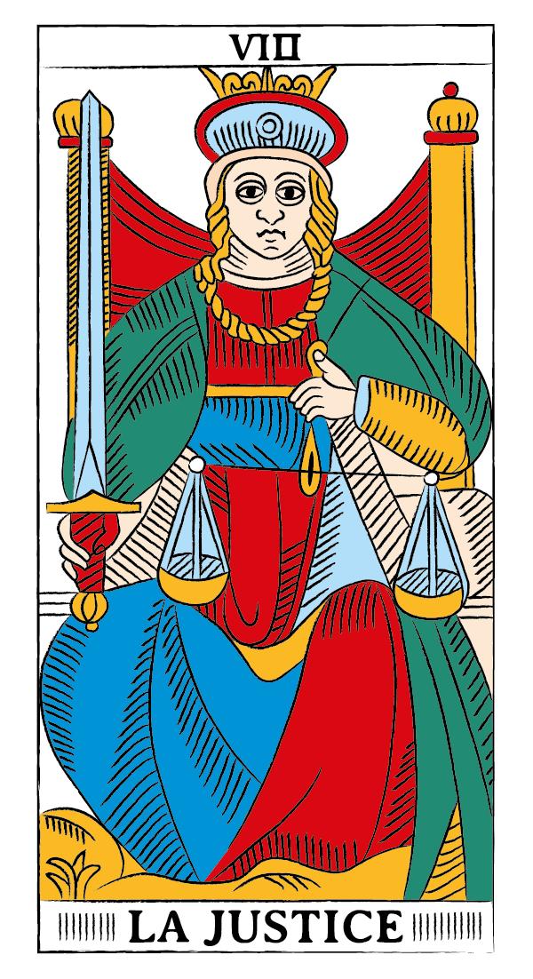 tarocchi di marsiglia francesco guarino giustizia
