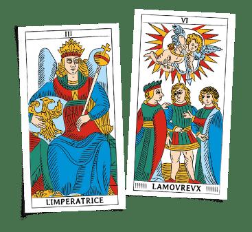 Legge Della Carta Sguardo Imperatrice Innamorato