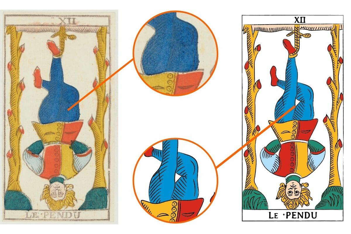 Tarocchi di Marsiglia Conver Guarino Esempio Appeso